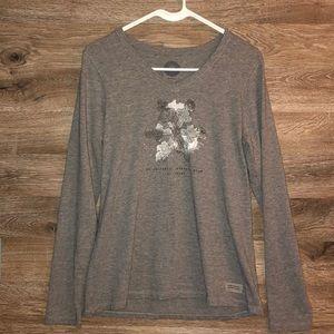 Life is Good Snowflake long sleeve tee shirt